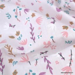 Tissu coton imprimé Nature