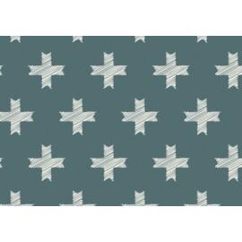 Tissu coton imprimé Croix