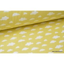 Tissu coton imprimé Nuages