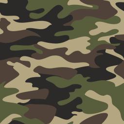 Tissus motifs Camouflage