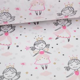 Tissu imprimé Princesse, fée et danseuse étoile, ballerine