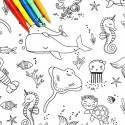 Tissu à colorier